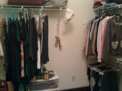 The closet, also posted before. This time it has more crap in it.
